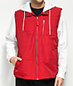 Empyre City Scape Red & White 2fer Hooded Jacket