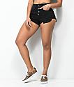 Empyre Cleo Cheeky shorts de mezclilla en negro