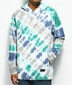 Empyre Coral Green, Blue & Grey Tie Dye Hoodie