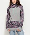 Empyre Crestone Tech Fleece Grey Floral Hoodie