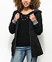 Empyre Delray chaqueta negra con capucha y cremallera