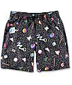 Empyre Dubtub 90s Geo board shorts con pretina elástica