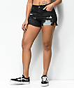Empyre Emma Distressed Black Girlfriend Shorts