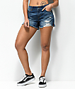 Empyre Emma Distressed Medium Wash Girlfriend Shorts