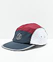 Empyre Flatbrush Navy & Burgundy Strapback Hat