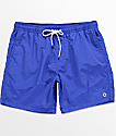 Empyre Floater Blue Elastic Waist Nylon Board Shorts