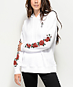 Empyre Fredia Rose White Hoodie