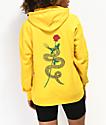 Empyre Fredia Snake Rose Yellow Hoodie