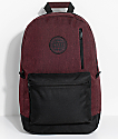 Empyre Gareth Burgundy & Black Backpack