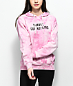 Empyre Gillian Thanks For Nothing sudadera rosa con capucha y efecto tie dye