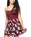Empyre Gina Burgundy Floral Strapless Dress
