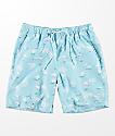 Empyre Grom Flamingo shorts de baño azules con pretina elástica