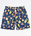 Empyre Grom Fruit shorts de baño con pretina elástica en azul marino