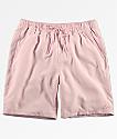 Empyre Grom shorts de baño con pretina elástica en rosa claro