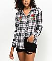 Empyre Havana Roses camisa en blanco y negro