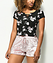 Empyre Hawn camiseta negra floral