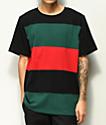 Empyre Highway camiseta de punto roja, verde y negra