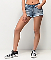 Empyre Jenna Medium Washed Blue Jean Shorts