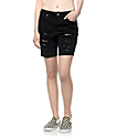 Empyre Kali Black Destructed Boyfriend Shorts