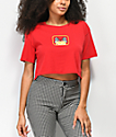 Empyre Kipsy Finish Red Crop T-Shirt