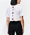 Empyre Kipsy Rose White Crop T-Shirt