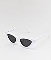 Empyre Kit White & Black Cateye Sunglasses