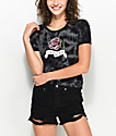 Empyre Knoxville Rose Black Tie Dye Crop T-Shirt