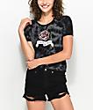 Empyre Knoxville Rose camiseta corta con efecto tie dye en negro