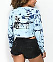 Empyre Kode Blue Tie Dye Long Sleeve Crop T-Shirt