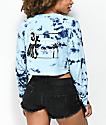 Empyre Kode camiseta de manga larga azul con efecto tie dye
