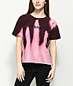 Empyre Kym Nevermind Burgundy Bleach T-Shirt