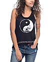 Empyre McGraw Yin Yang Black Fringe Tank Top