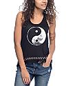 Empyre McGraw Yin Yang camiseta sin mangas en negro