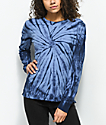 Empyre Monroe Blue Tie Dye Long Sleeve T-Shirt
