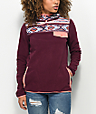 Empyre Noor Tribal Burgundy Tech Fleece Hoodie