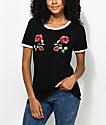 Empyre Paulie Roses camiseta ringer en blanco y negro