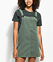 Empyre Penny Olive Corduroy Overall Dress