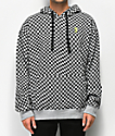 Empyre Pixel Black & Heather Grey Checkered Hoodie