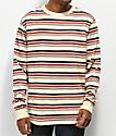 Empyre Recon camiseta de rayas marrón de manga larga