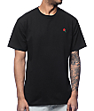 Empyre Rose Embroidery Black T-Shirt