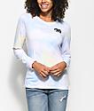 Empyre Rubino Elephant camiseta pastel de manga larga con efecto tie dye
