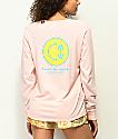 Empyre Rubino Thanks Smile Face Pink Long Sleeve T-Shirt