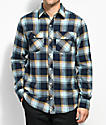 Empyre Sammy Teal, Navy & Black Flannel Shirt