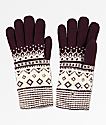 Empyre Sasha Burgundy & White Chenille Gloves