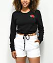 Empyre Siobhan Rose camiseta de manga larga con dobladillo ajustable