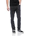 Empyre Skeletor Black Acid Washed Skinny Jeans