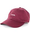 Empyre Solstice Cool gorra de béisbol borgoña