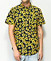 Empyre Terry Sunflower Short Sleeve Button Up Shirt