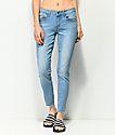 Empyre Tessa Azure jeans ajustados con lavado claro