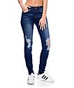 Empyre Tessa Dark Wash Lido Distressed Skinny Jeans